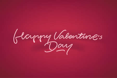 hanging woman: Happy valentines day lettering vector illustration on veautiful background