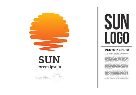 Sun Yoga Sea Logo vector logotype illustration