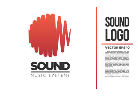 logo music: Sound Music logo vector logotype wave abstract Illustration