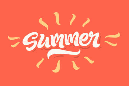 re: Summer time lettering vector illustration on colourful background