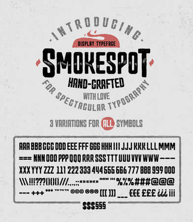 chiseled: SmokeSpot Han-crafted with love display typeface font