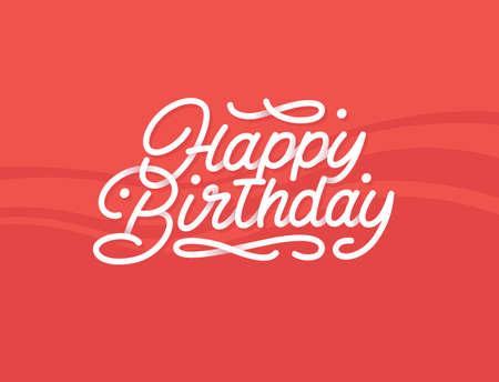 Happy birthday premium lettering with beautiful shadows Illustration