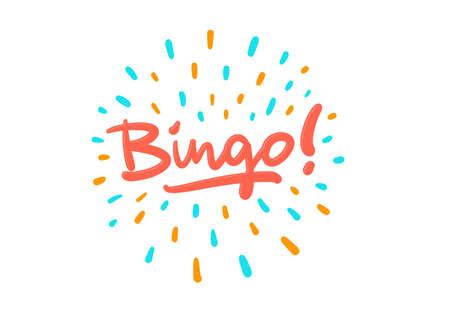 Bingo vector logo postcard with splash effect Illustration