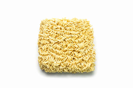 Noodle, Instant noodles isolated on white background