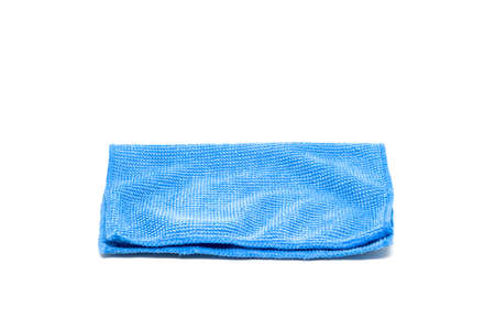 Blue handkerchief isolated on white background