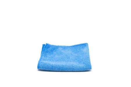 hanky: Blue handkerchief isolated on white background