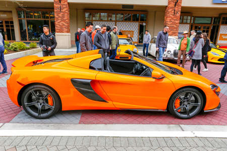 autoshow: REDMOND, WA - APRIL 29, 2017: Lamborghini at Exotic car show at Redmond Town Center. The Largest Weekly Gathering Of Exotic Cars In The USA. Editorial