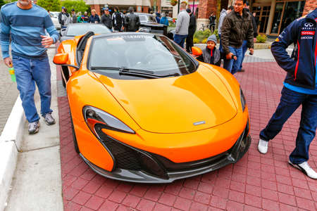 REDMOND, WA - APRIL 29, 2017: McLaren at Exotic car show at Redmond Town Center. The Largest Weekly Gathering Of Exotic Cars In The USA.