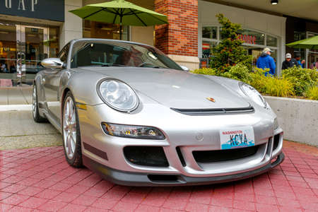 Redmond, WA - April 29, 2017: Porsche GT3 at Exotic car show at Redmond Town Center. The Largest Weekly Gathering Of Exotic Cars In The USA. Redakční