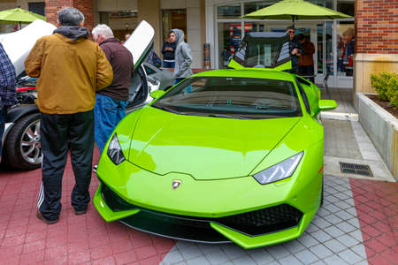 Redmond, WA - April 29, 2017: Lamborghini at Exotic car show at Redmond Town Center. The Largest Weekly Gathering Of Exotic Cars In The USA.