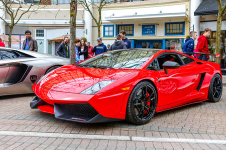 REDMOND, WA - APRIL 29, 2017: Lamborghini at Exotic car show at Redmond Town Center. The Largest Weekly Gathering Of Exotic Cars In The USA. Editorial