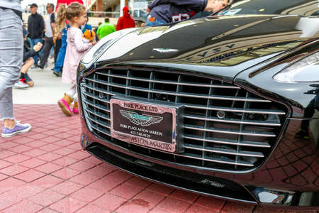 wa: REDMOND, WA - APRIL 29, 2017: Aston Martin at Exotic car show at Redmond Town Center. The Largest Weekly Gathering Of Exotic Cars In The USA. Editorial