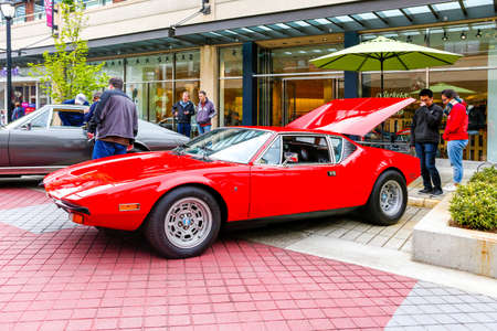 REDMOND, WA - APRIL 29, 2017: DeTomaso Pantera at Exotic car show at Redmond Town Center. The Largest Weekly Gathering Of Exotic Cars In The USA. Redakční
