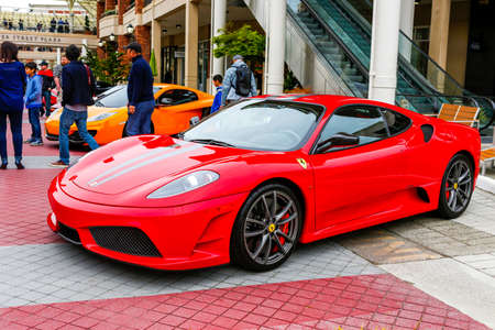 REDMOND, WA - APRIL 29, 2017: Ferrari 430 Scuderia at Exotic car show at Redmond Town Center. The Largest Weekly Gathering Of Exotic Cars In The USA. Redakční