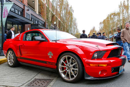 REDMOND, WA - APRIL 29, 2017: Shelby GT500 at Exotic car show at Redmond Town Center. The Largest Weekly Gathering Of Exotic Cars In The USA. Redakční