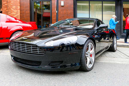 REDMOND, WA - APRIL 29, 2017: Aston Martin at Exotic car show at Redmond Town Center. The Largest Weekly Gathering Of Exotic Cars In The USA. Redakční