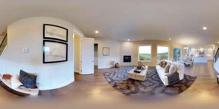 Bon 3d Illustration Spherical 360 Degrees, Seamless Panorama Of The Family Room Interior  Design. Modern