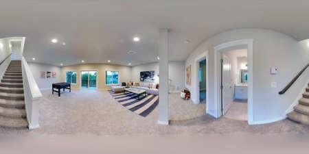 Ordinaire 3d Illustration Spherical 360 Degrees, Seamless Panorama Of The Family Room Interior  Design. Modern