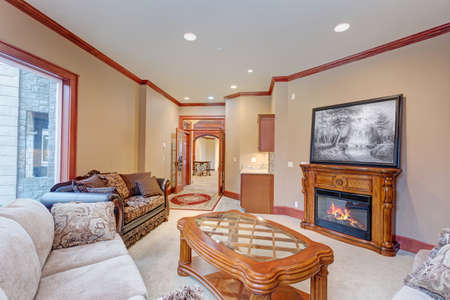Warm cozy family room with of a luxury wedding venue.