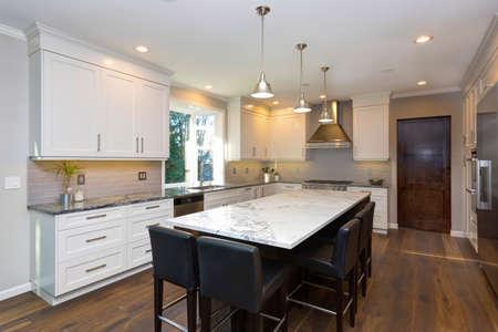 Luxury Home Interior Boasts Beautiful Black And White Kitchen