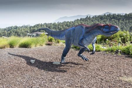 Allosaurus dinosaur running