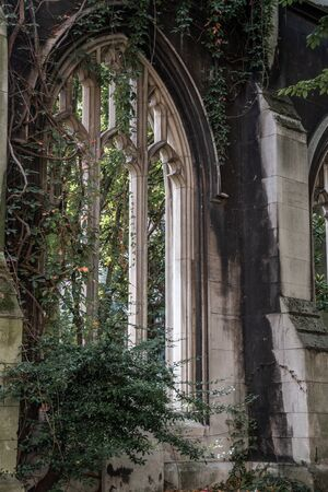 St Dunstan in the East Church Garden, destroyed in the Second World War