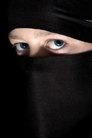 traditionalist: Blue eyes Stock Photo