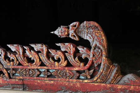 Thai art  Lai Thai  temple in Thailand  photo