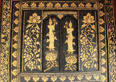Thai art  Lai Thai  temple in Thailand