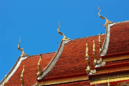 Thai art  Lai Thai  temple in Thailand  photo