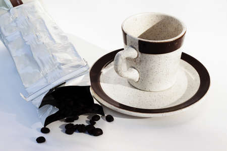 coffee beans and cup Stock fotó