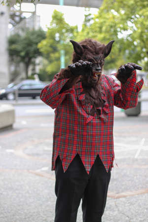 monster movie: wolfman in the street