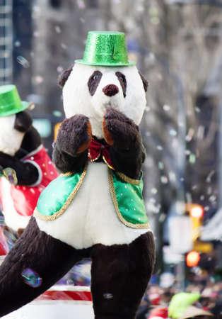 dancing bear at christmas parade photo