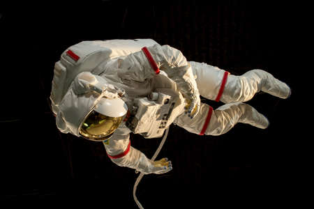 공간 디스플레이의 우주 비행사