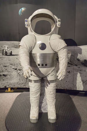 an early space suit from sixties