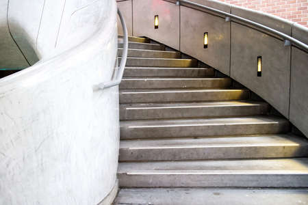 archtecture: marble steps in urban shopping plaza