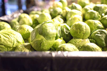 lonsdale: brussels sprouts display at market