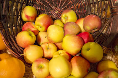 basket of apples at market Stock Photo - 17082699