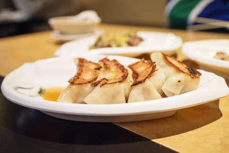 some gyoza - japanese dumplings