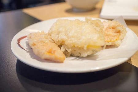 일본 요리점의 야채 튀김