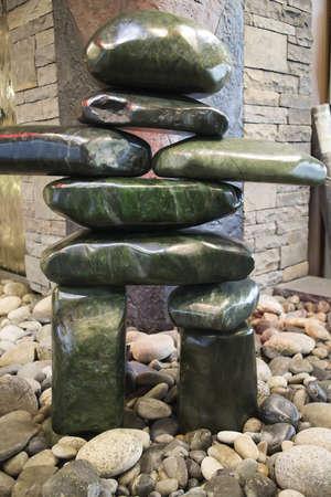 이누이트 돌는 Inukshuk 조각