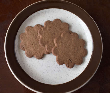 three swedish wish cookies on plate