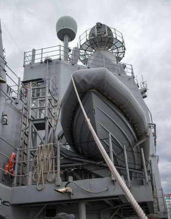 lifeboat aboard naval vessel