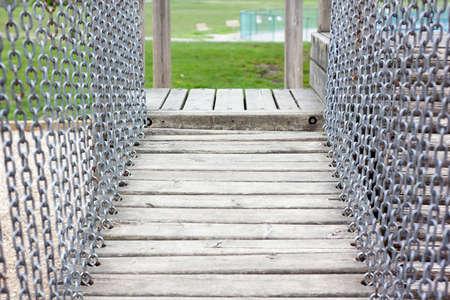 oceanfront: a playground drawbridge in oceanfront park