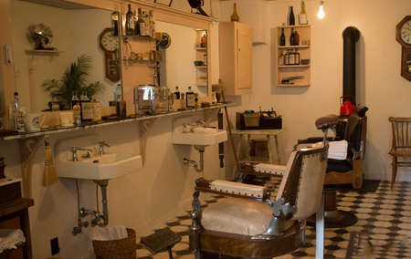 a quaint old time barbershop