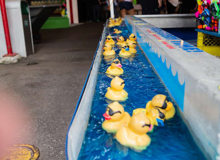 midway: a duck game at carnival Stock Photo