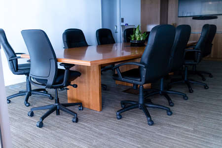 inddor: A nice boardroom ready for meeting Editorial
