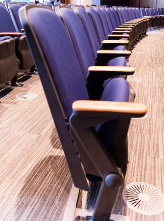 inddor: a row of chairs in theater