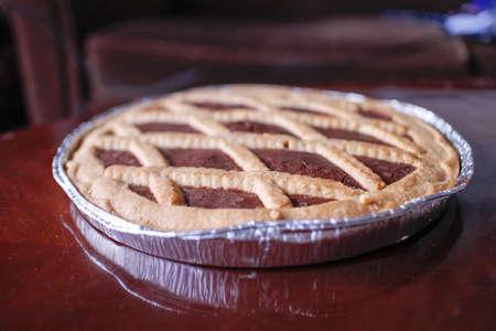 crostata all cacao  Italian chocolate pie photo
