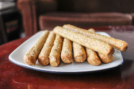 lebanese: Lebanese bread sticks Stock Photo